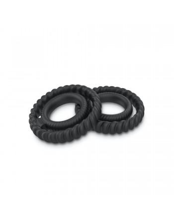 Cockring Dual ring Dorcel - Noir - les nuances du désir