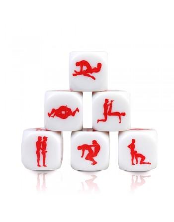 Dé Kamasutra Gay - Blanc et rouge - les nuances du désir
