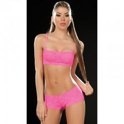 Lace set pink 206
