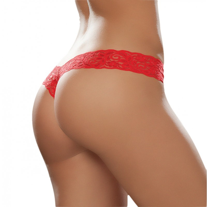 Sexy lace thong red 93