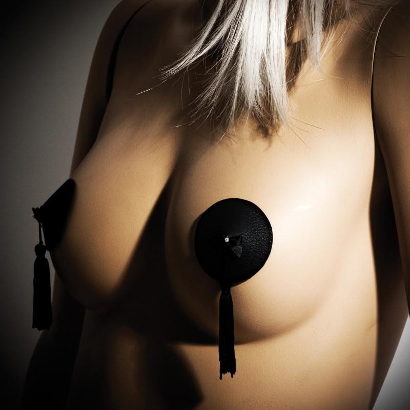 Cache-tétons Burlesque noir - les nuances du désir