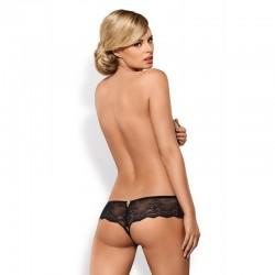 Merossa Crotchless Panties Black