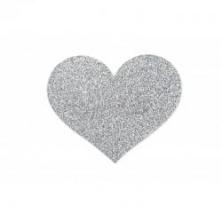 Cache tétons Coeur Flash -  argent - les nuances du désir