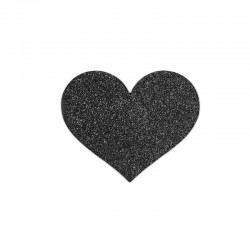 Cache-tétons Cœur Flash - noirs - les nuances du désir