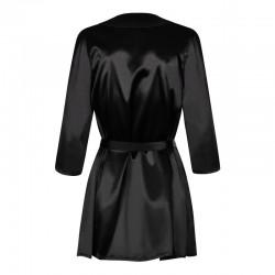 Satinia Robe Black - les nuances du désir